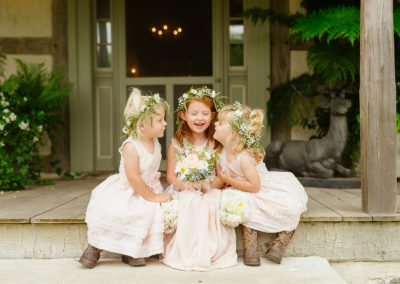 Ramhorn Front Porch with adorable flower girls